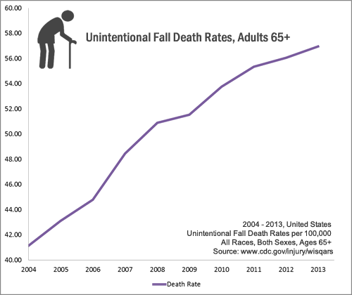 Death Rate Graph-Slip and Fall Accident