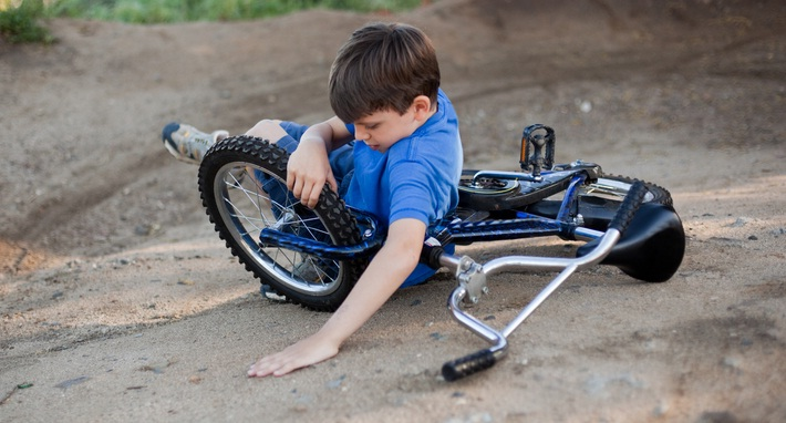 kid in a bicycle accident