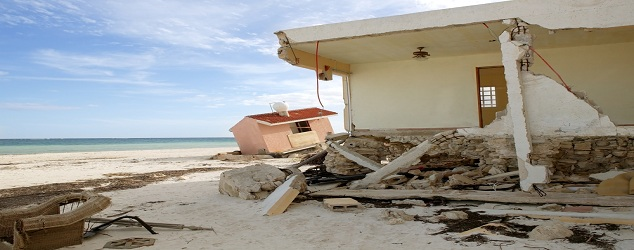 Damage caused by beach storms