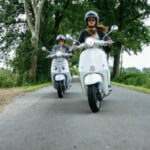 Moped riding
